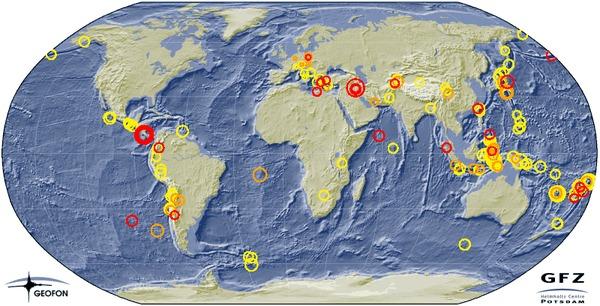 Интерактивная карта вулканической активности Наука, Супервулканы, Землетрясение, Земля разбушевалась, Карта онлайн, Магнитуда, Планета Земля, Гифка