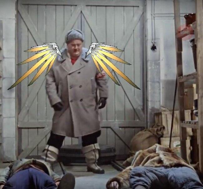 Ламповый советский хил Overwatch, Mercy, Операция ы, Длиннопост