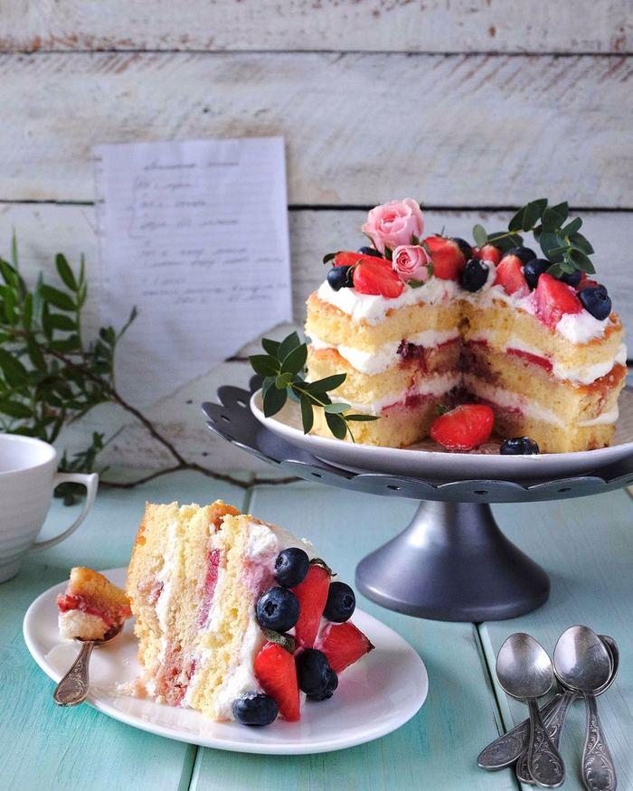 Бисквит королевы Виктории. Торт, Лимон, Рецепт, Бисквитвиктории, Творожный сыр, Сливки, Длиннопост
