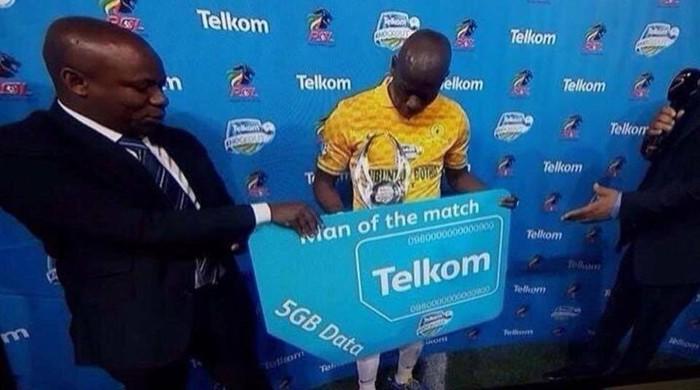 В Южной Африке игрок матча получил в подарок 5 гигабайт мобильного интернета