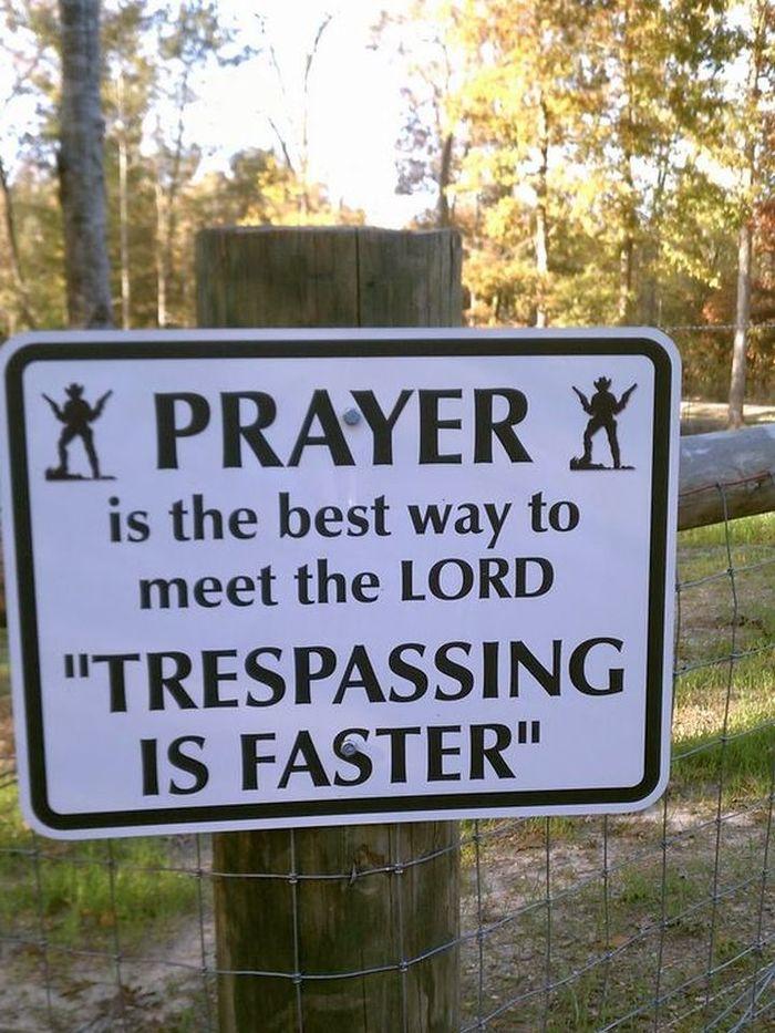 Деликатное предупреждение Предупреждение, Табличка, Частная собственность, Бог