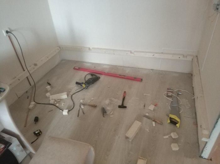 Как делал ремонт в квартире... ремонт, Подиум, отпуск, длиннопост
