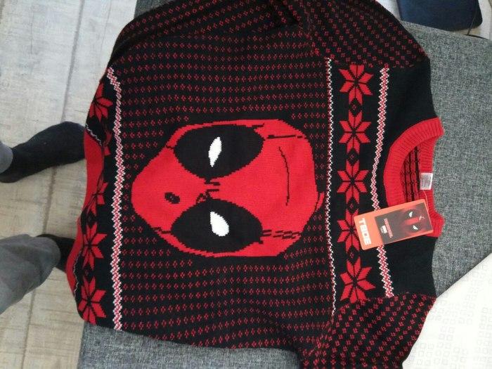 Новогоднее чудо! или свитер с Deadpool'ом на халяву Добро, Комментарии на пикабу, Новый Год, Человек, Deadpool, Свитер, Длиннопост