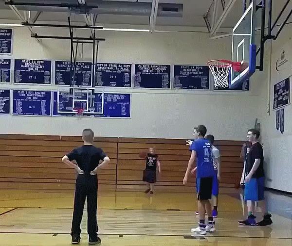 Когда мечтаешь играть как Майкл Джордан Баскетбол, Дети, Данк, Лайфхак, Гифка