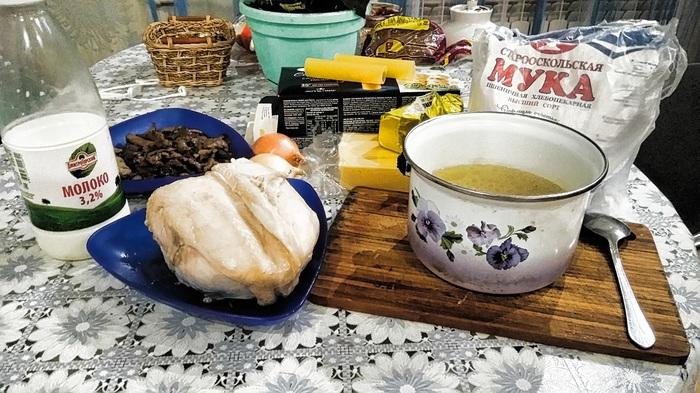 Каннелони с жюльеном из курицы Рецепт, Еда, Курица, Макароны, Вкусно, Длиннопост