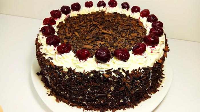 """Торт """"ПЬЯНАЯ ВИШНЯ"""" Попробуйте и Вы обалдеете как это Вкусно! Торт, Шоколадный торт, Вишня, Выпечка, Рецепт, Еда, Кулинария, Вкусно, Видео, Длиннопост"""