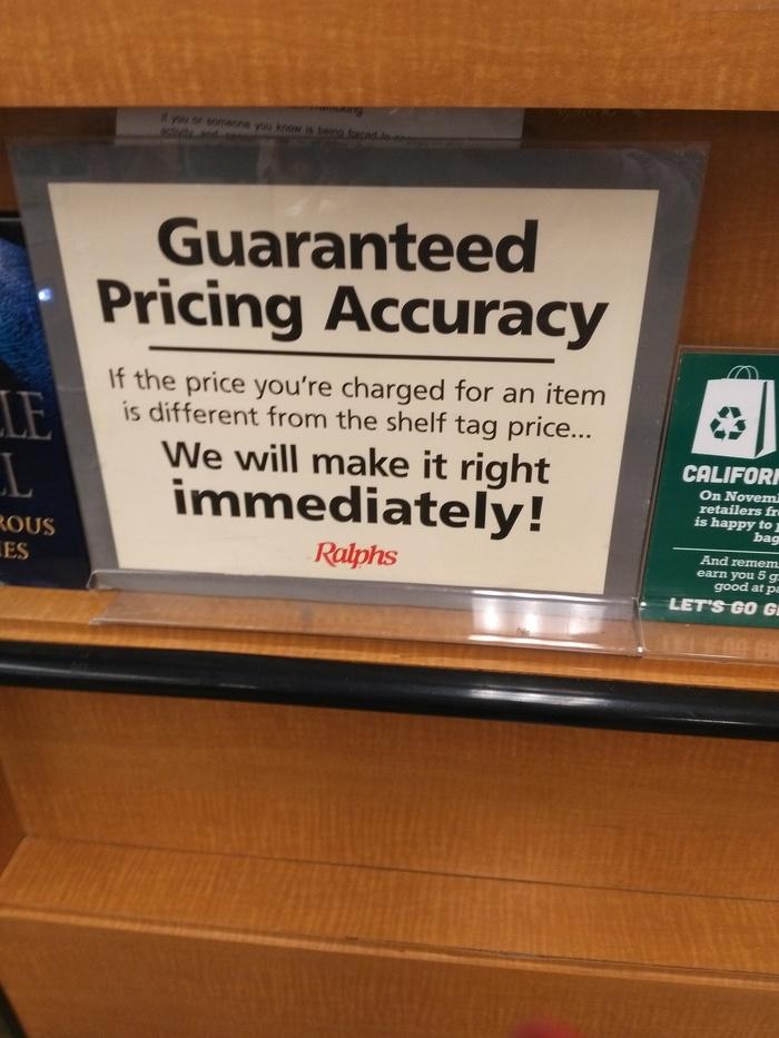 """""""Мы не успели ценники поменять"""" в США США, Неправильные ценники, Ценник"""