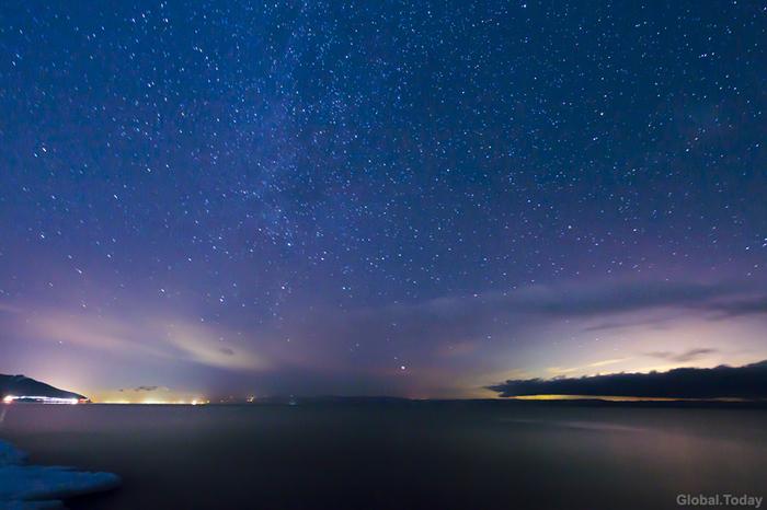 Ночь над Байкалом Байкал, Байкальск, Ночь, Фотография