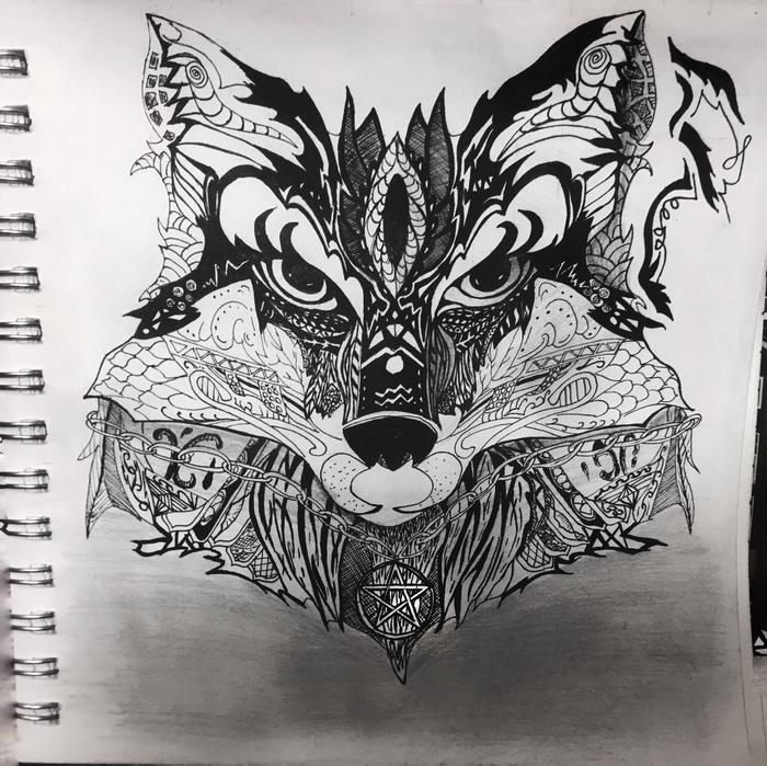 Тотемное животное (4) Графическая лиса Рисунок, Проект, Ассоциации, Лиса, Длиннопост