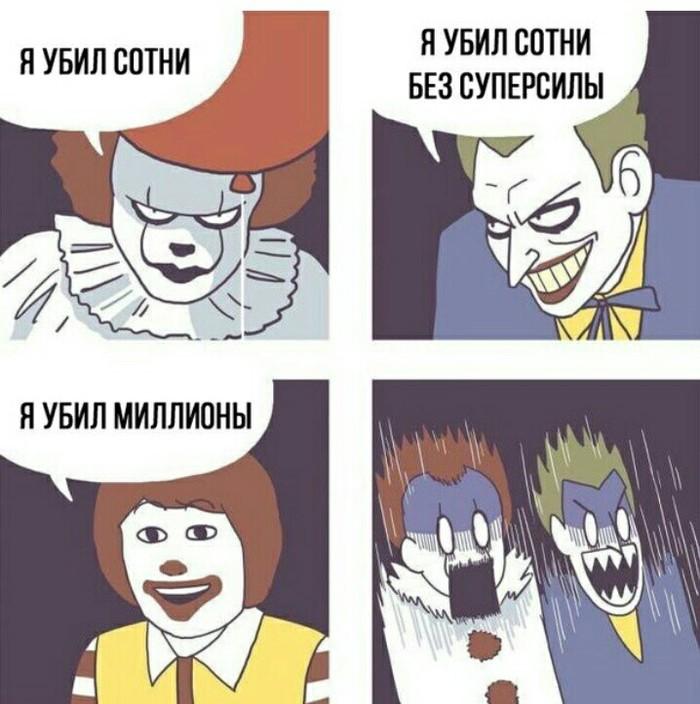 Клоунские реалии Клоун, Джокер, Оно, Из сети