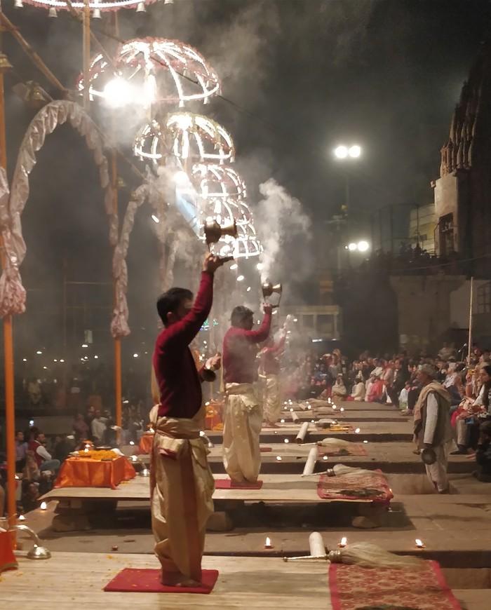 Маленькое путешествие в большую Индию 5 Индия, Варанаси, Церемония, Вечер, Огонь, Ганг, Путешествия, Длиннопост