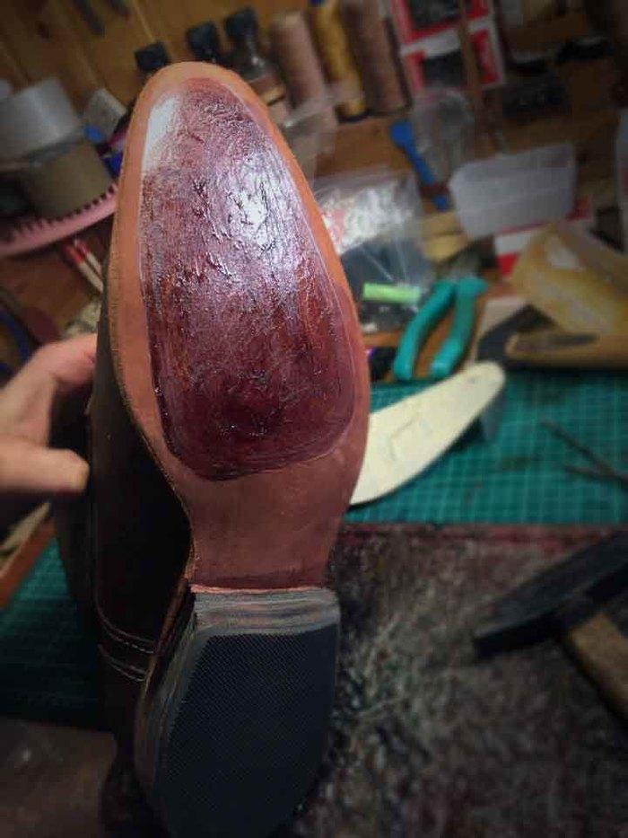 Пара ботинок и фото процесса изготовления Обувь, Ручная работа, Рукоделие с процессом, Кожа, Мастерская, Длиннопост
