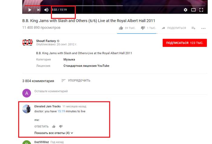 """Когда комментарий под видео действительно """"в тему"""". B b King, Блюз, Комментарии, Youtube"""