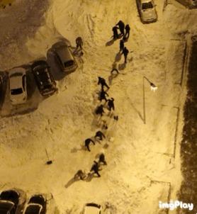 Спасибо коммунальщики. Снегопад, Казань, Уборка снега, Коммунальщики, Гифка, Длиннопост
