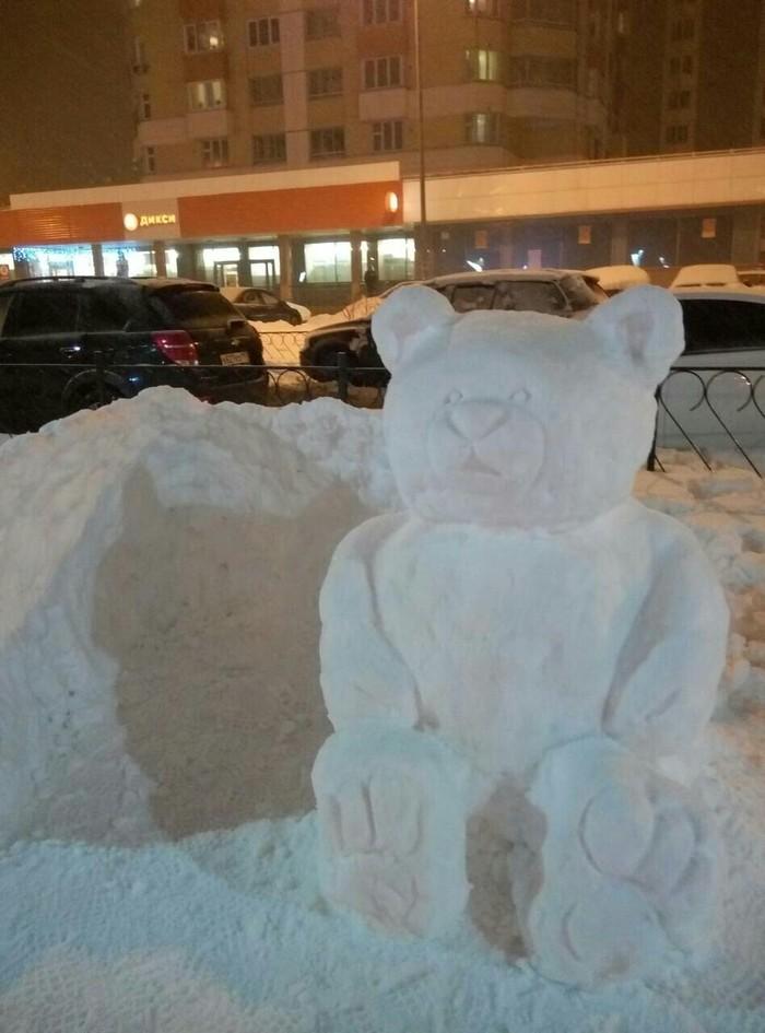 Пока сосед откапывал машину Снегопад, Белый медведь, Крыша, Не успел, Длиннопост