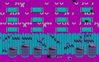 Alley cat. Не каждый помнит эту забавную игру. Ibm PC, Alley Cat, Гифка
