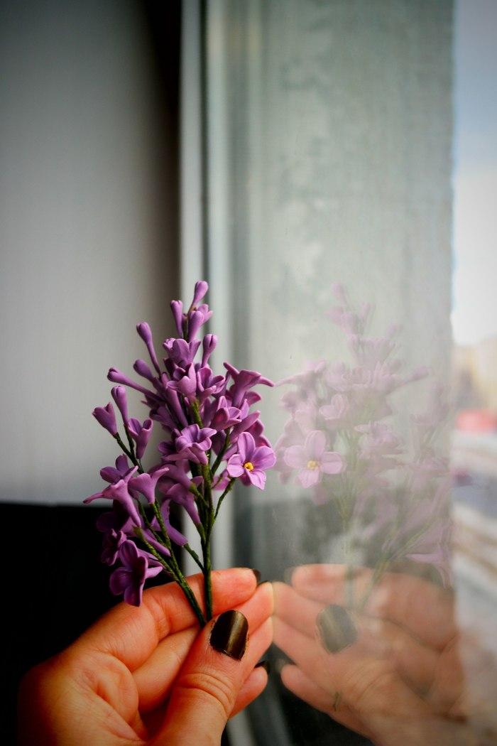 Lilac Сирень, Полимерная глина, Полимерная флористика, Для йеннифэр, Длиннопост