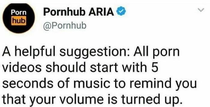 Полезный совет Pornhub, Полезное, Громкость
