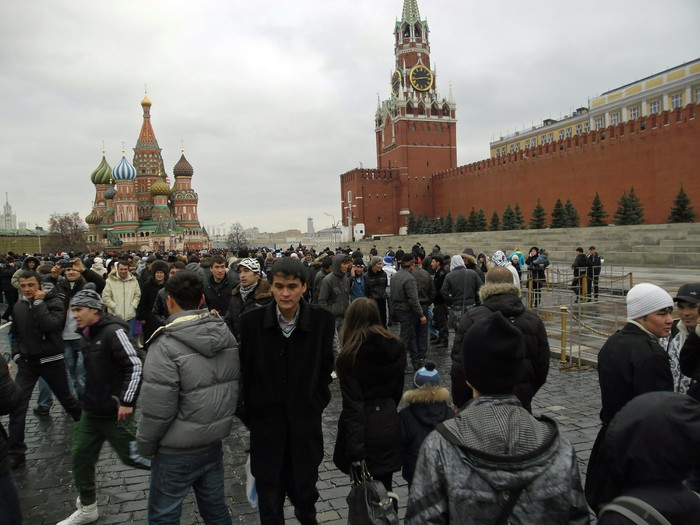 Россия, Москва, Красная площадь, 31 декабря.