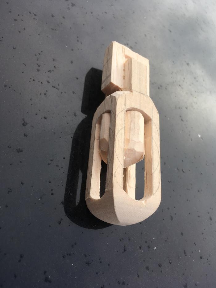 Шарик внутри 2 ручная работа, резьба по дереву, изделия из дерева, длиннопост