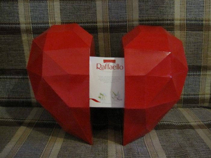 Сердце из бумаги Pepakura, Papercraft, Сердце, День святого Валентина, Длиннопост