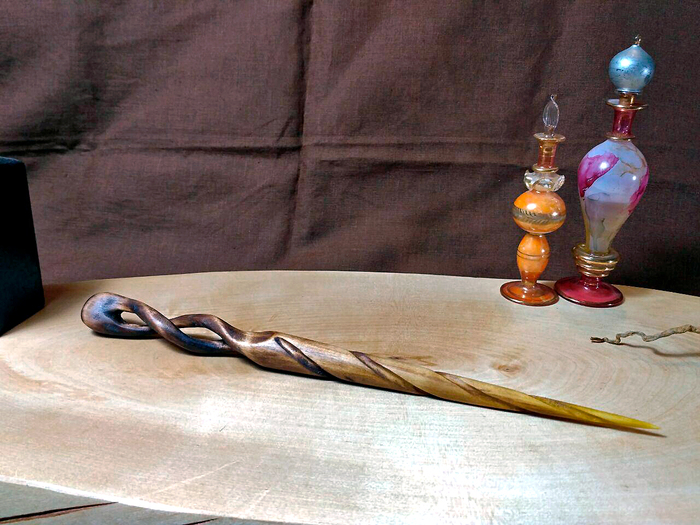 Волшебная палочка с сердцевиной «Иерихонская роза» Гарри Поттер, Волшебная палочка, Джоан Роулинг, Своими руками, Работа с деревом, Дерево своими руками, Дерево, Гифка, Длиннопост
