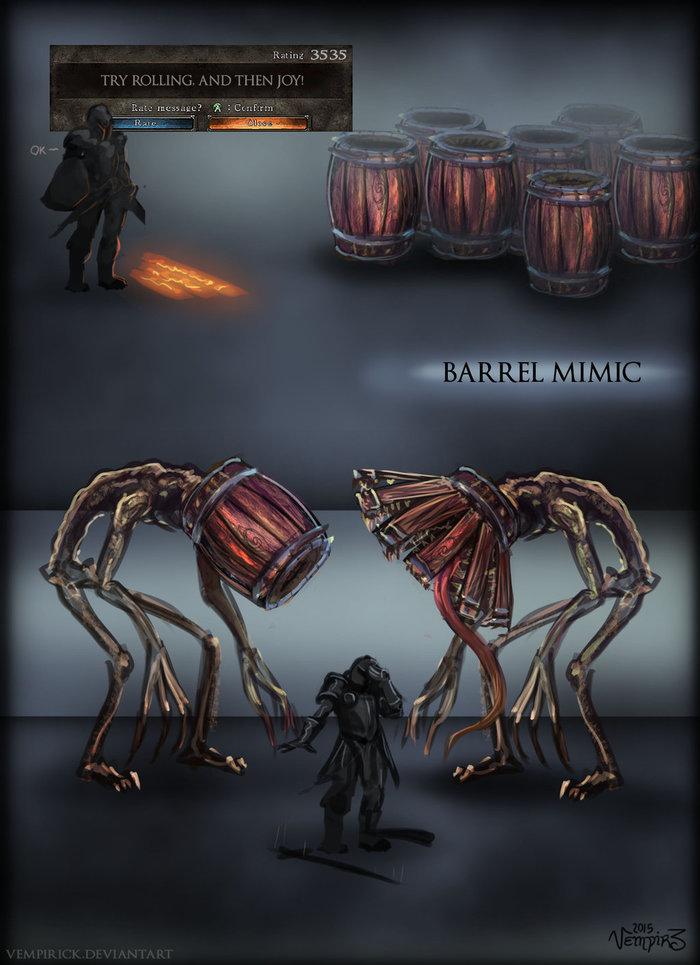 И еще один вариант мимика для Dark Souls