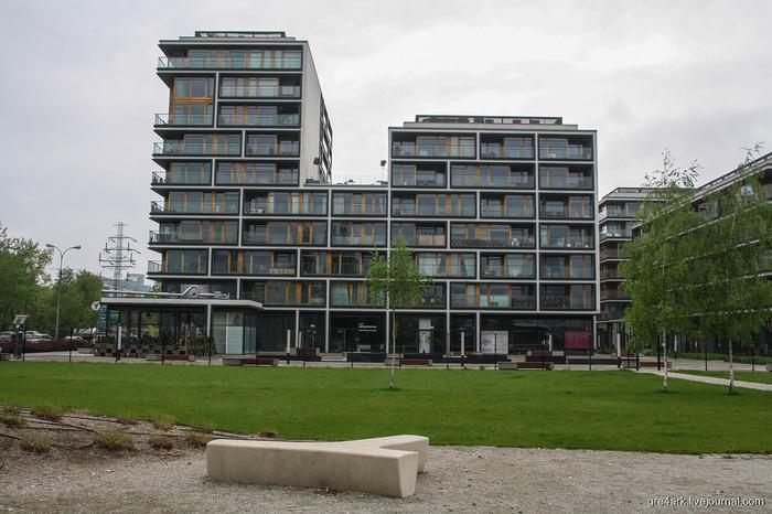Поляки умеют строить жильё, в котором не стыдно жить. (1) Польша, Варшава, Жилой Комплекс, Архитектура, Длиннопост