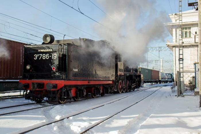 Паровоз Э-776-41 Паровоз, Поезд, Железная Дорога, Фотография