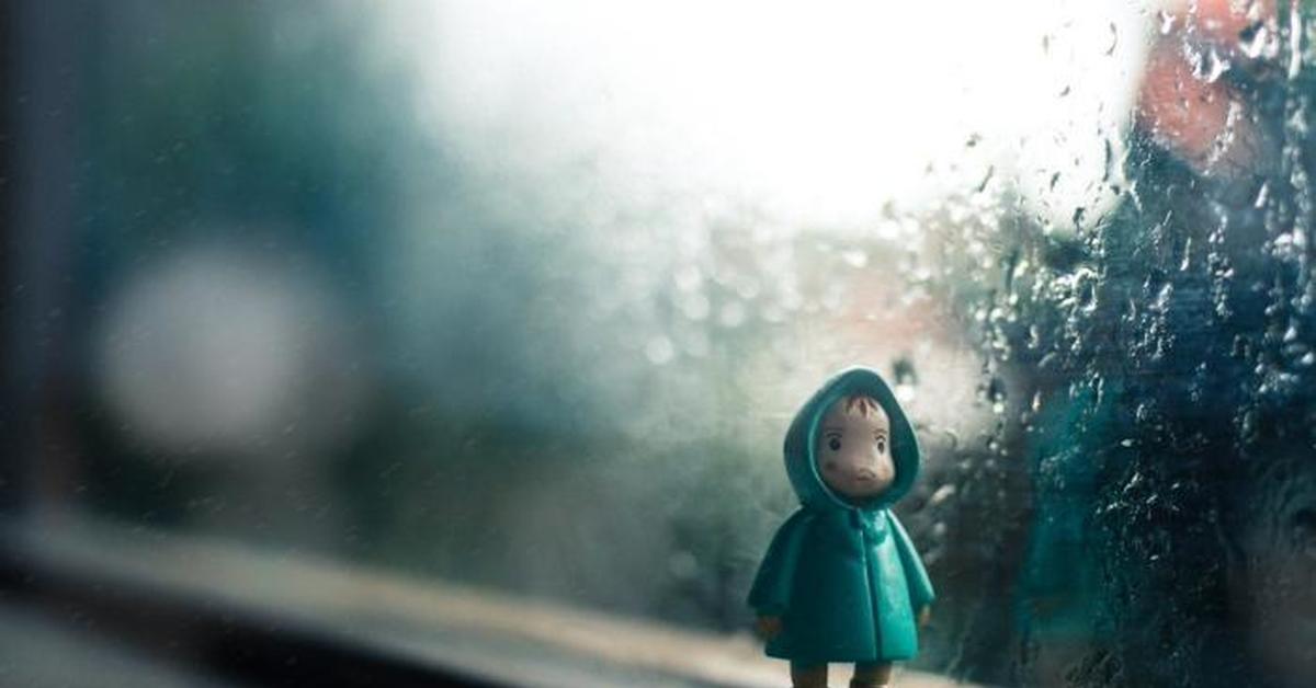 sad rainy window