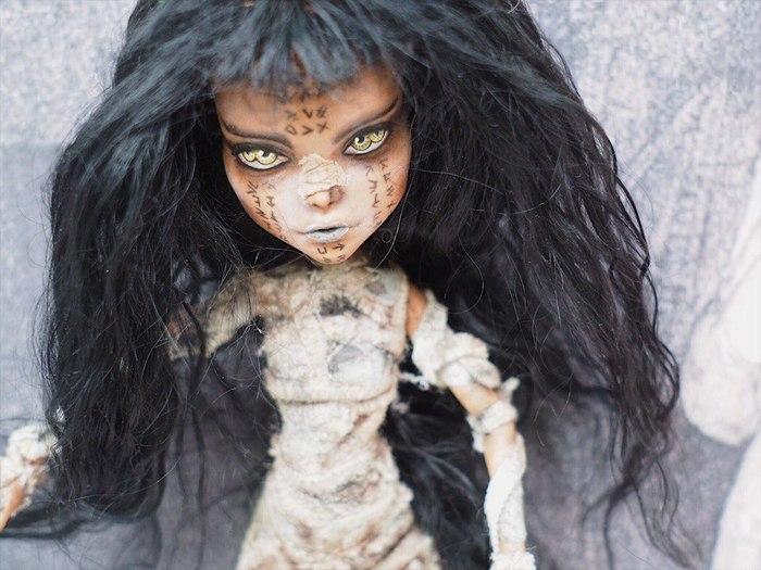 OOAK Fashion Dolls Кукла, Шарнирная кукла, Мумия, Страшно, Красивое, Длиннопост