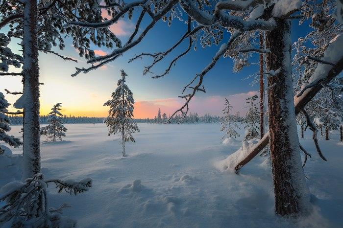 Окрестности города Апатиты Апатиты, Февраль, Мурманская область, Фотография, Зима, Снег, Природа, Пейзаж, Длиннопост