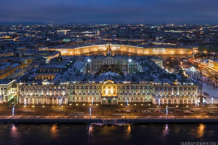 Сердце Северной столицы Санкт-Петербург, Эрмитаж, Станислав Забурдаев, Квадрокоптер