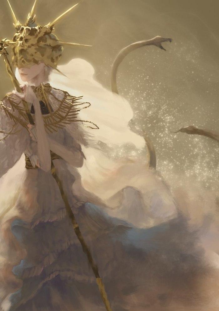 Гвиндолин Тёмное Солнце by Dark Souls Dark Souls, Эстетика, Фэнтези, Темное фэнтези, Dark Sun Gwyndolin, Длиннопост