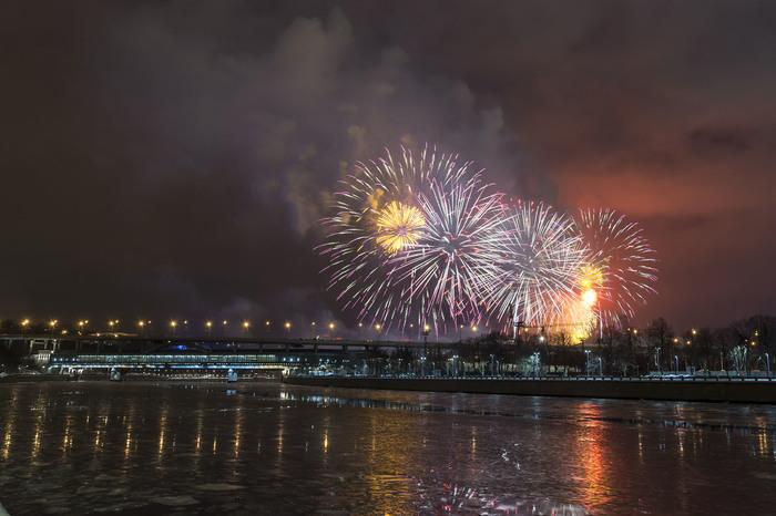 С днем защитника отечества! 23 февраля, Салют, Метромост, Москва-Река, Праздники, Nikon d7100