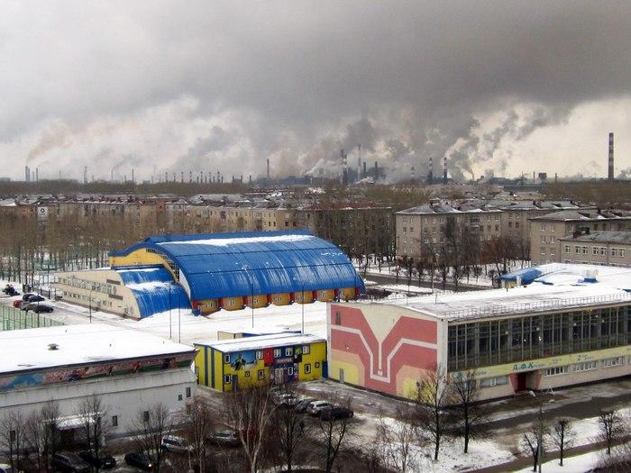 """Просто фотографии """"иногда"""" дымящего металлургического завода из Череповца Завод, Череповец"""