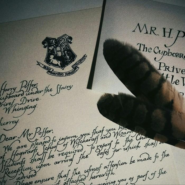 Письмо из Хогвартса Гарри Поттер, Каллиграфия, Рукоделие, Письмо из Хогвартса, Творчество, Хобби, Конкурс тп сергиев посад, Длиннопост