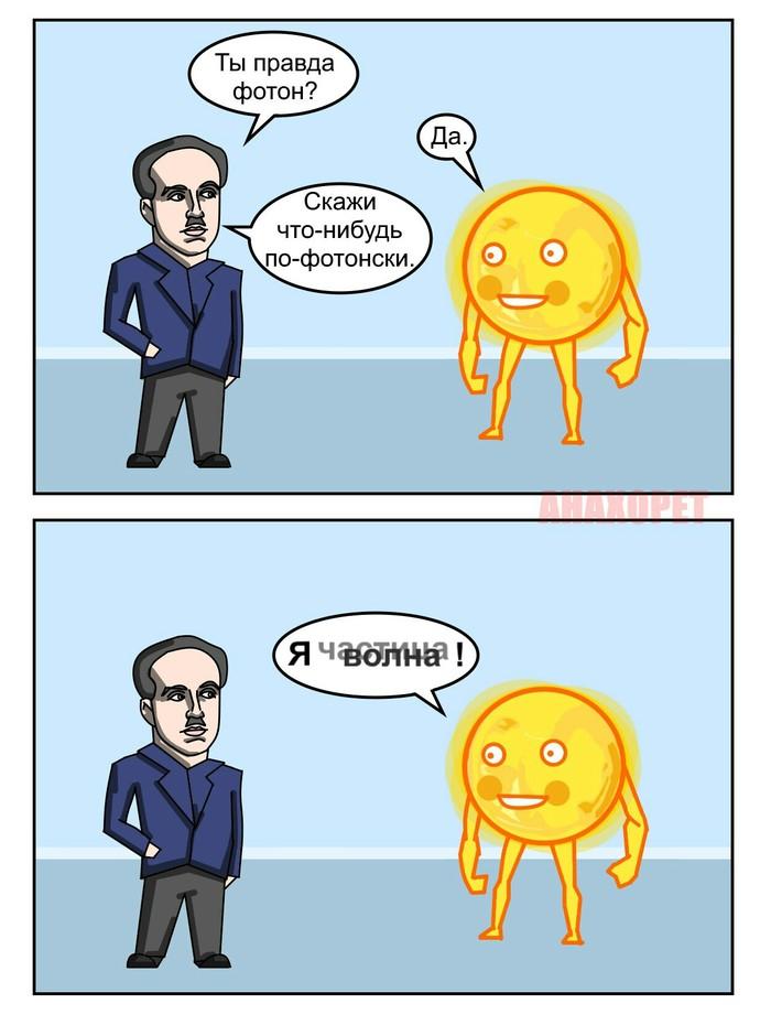 Дуализм Наука, Юмор, Комиксы, Квантовая физика, Анахорет
