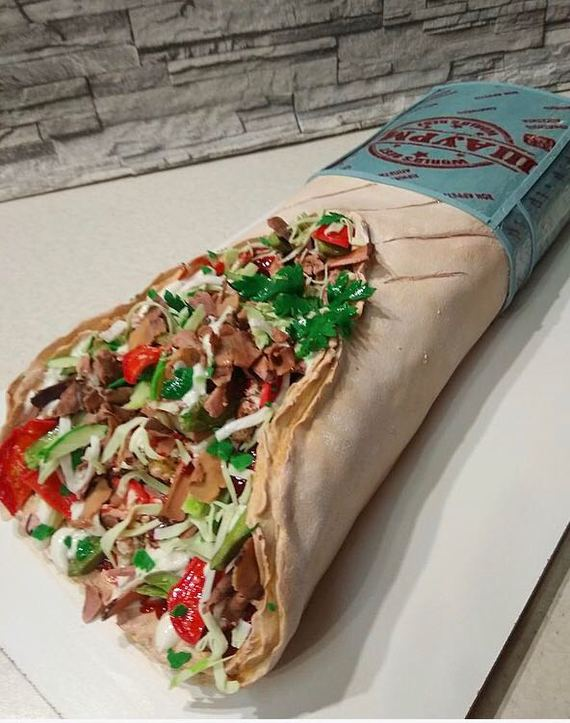 Необычный торт в виде шаурмы Моё, Торт, Шаурма, Шаверма, Длиннопост