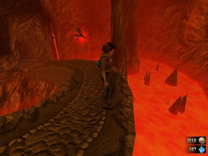 В занзаре не могу попасть в лавовые пещеры