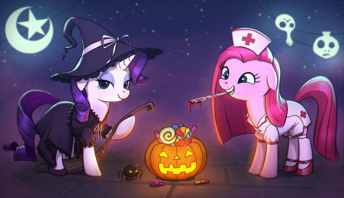 Nightmare Night My little pony, Rarity, Pinkamena Diane Pie