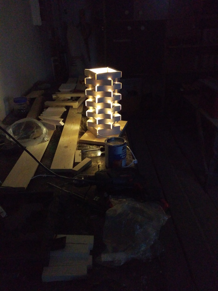 Рукожопим светильник работа с деревом, интерьер, своими руками, длиннопост, рукоделие с процессом