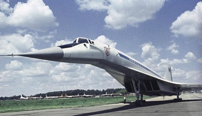 Ту-144 в Шереметьево Туполев, Ту-144, Самолет, Длиннопост