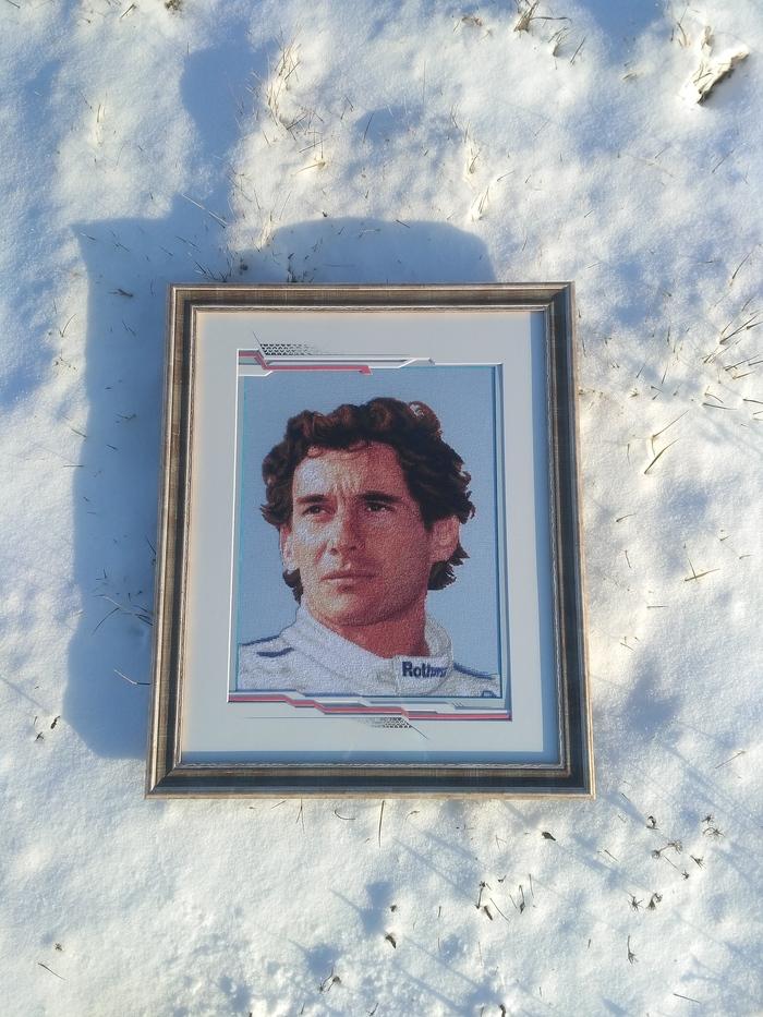 Ayrton Senna da Silva Вышивка крестом, Формула 1, Айртон Сенна, Рукоделие без процесса, Длиннопост