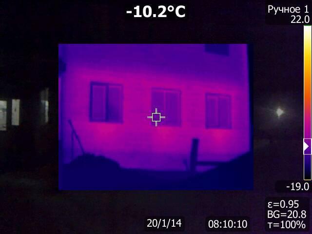 Съемки частного дома тепловизором. Длиннопост, Тепловизор, Частный дом, До и после