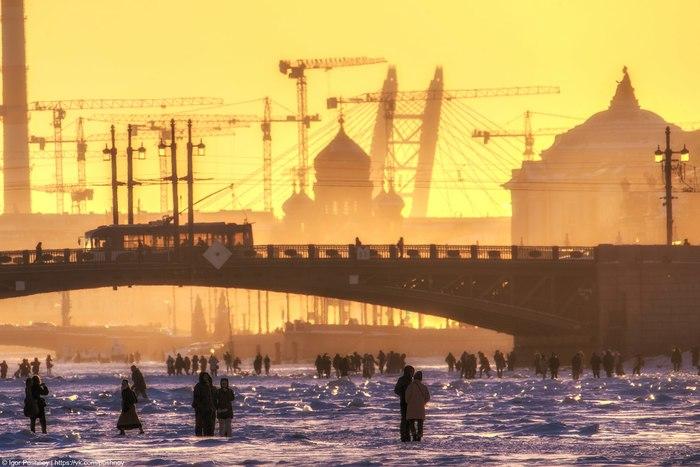 Питер! Санкт-Петербург, Большая Нева, Дворцовый мост, Игорь Пушной, Фотография