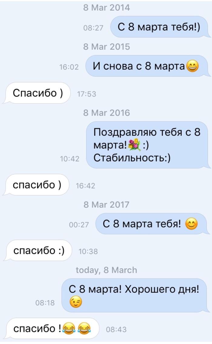 Снова этот день 3 8 марта, ВКонтакте, Переписка