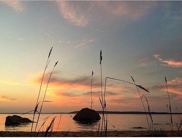 Закат на Ладоге Закат, Ладога, Тёплый летний вечер