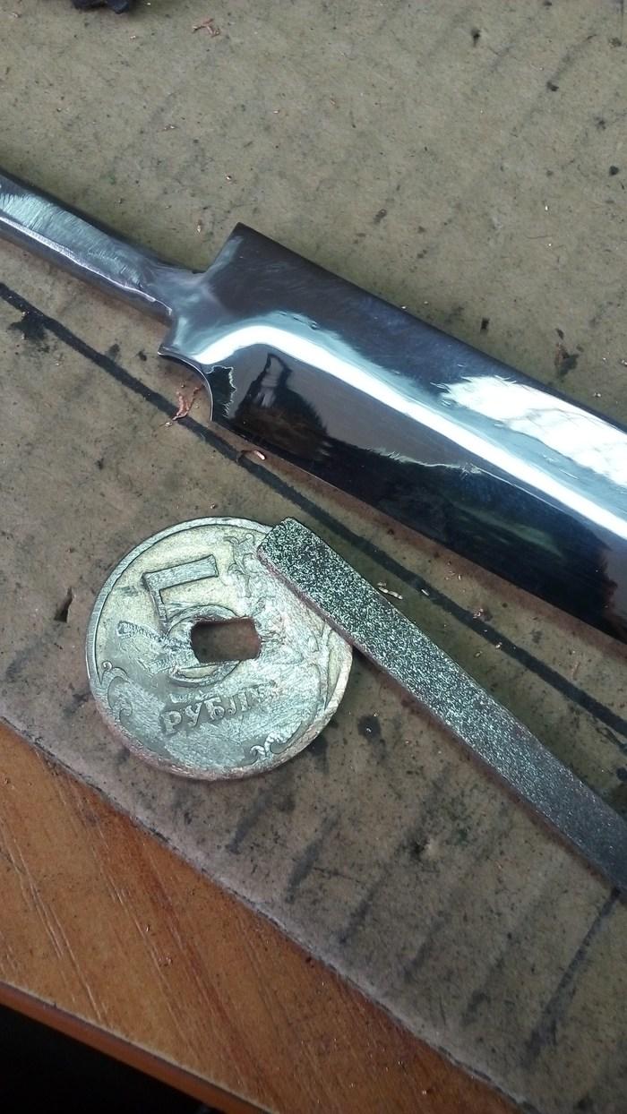 Робкая попытка сделать нож из напильника. нож, своими руками, рукожоп, когда делать нечего, длиннопост, моё