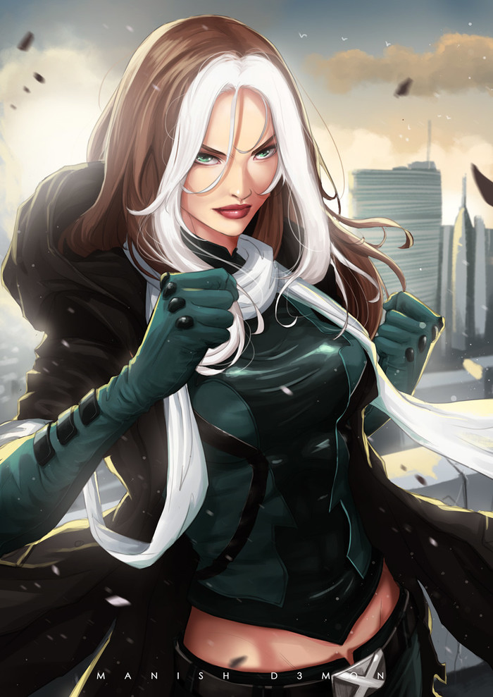 """Rogue"" byManish D3mon Manish D3mon, Арт, Marvel"